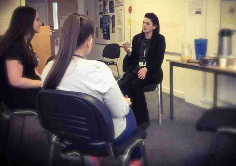 tpm students chat to tpm staff as part of activities to end mental discrimination