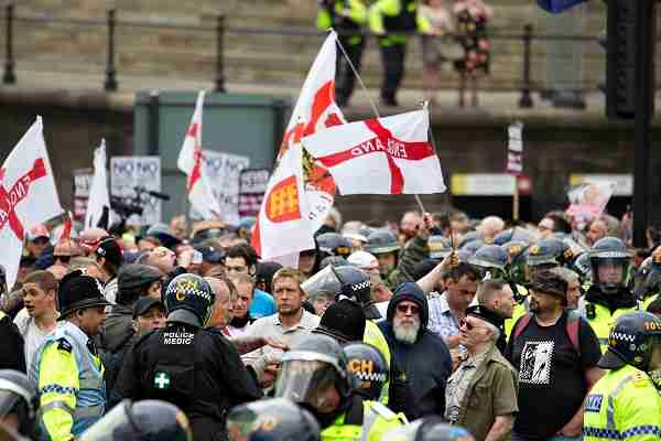 english league demonstration Liverpool